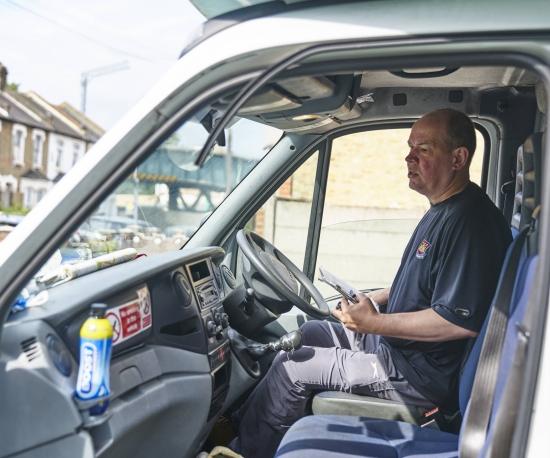 Volunteer van driver: mobile library