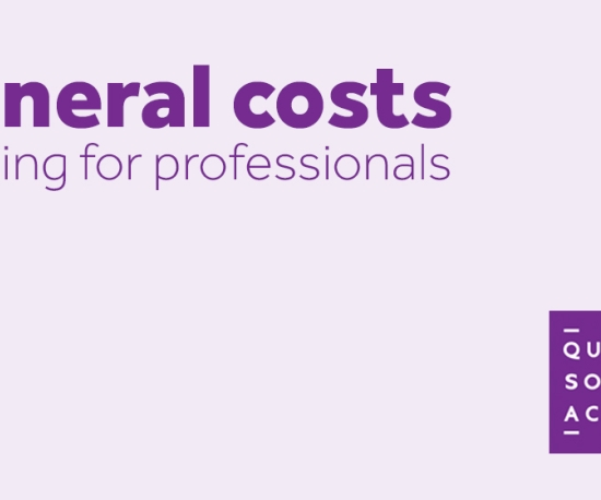 Funeral costs training events