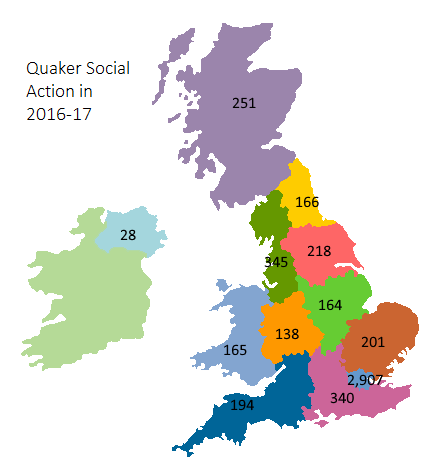 Map of QSA's reach and influence across the UK